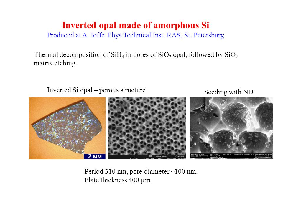 Inverted opal made of amorphous Si