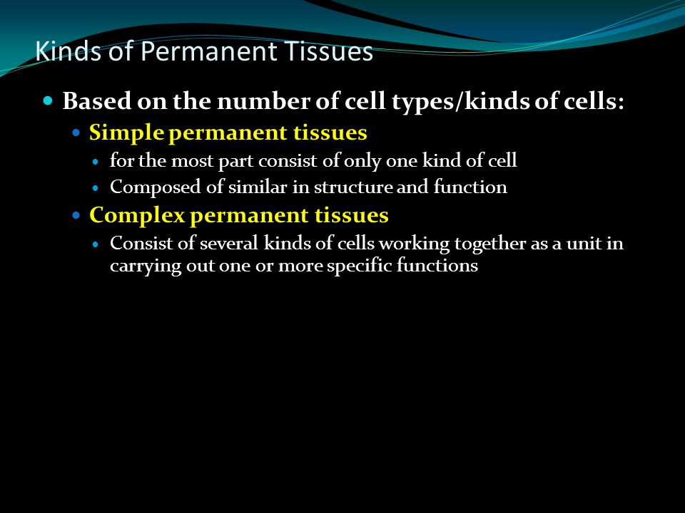 Kinds of Permanent Tissues