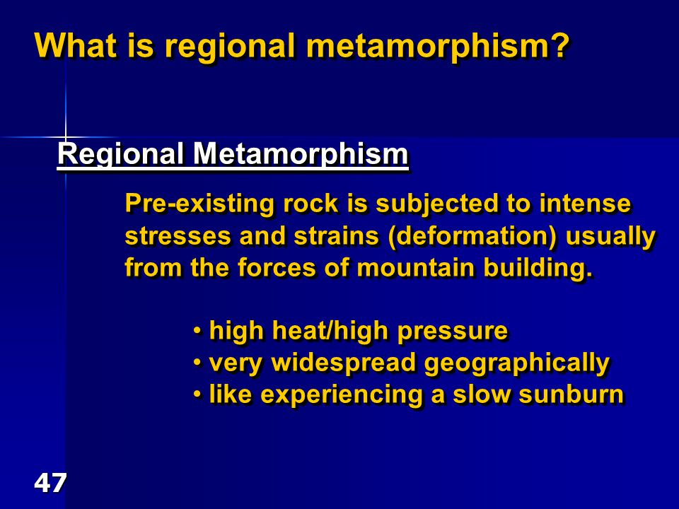 What is regional metamorphism