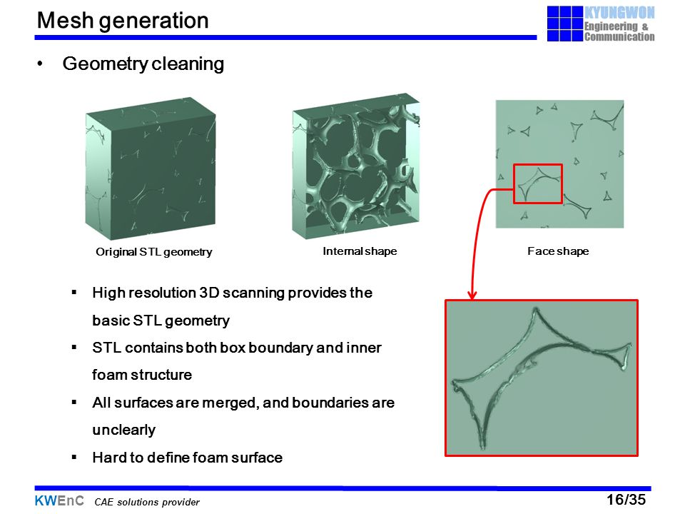 Mesh generation Geometry cleaning
