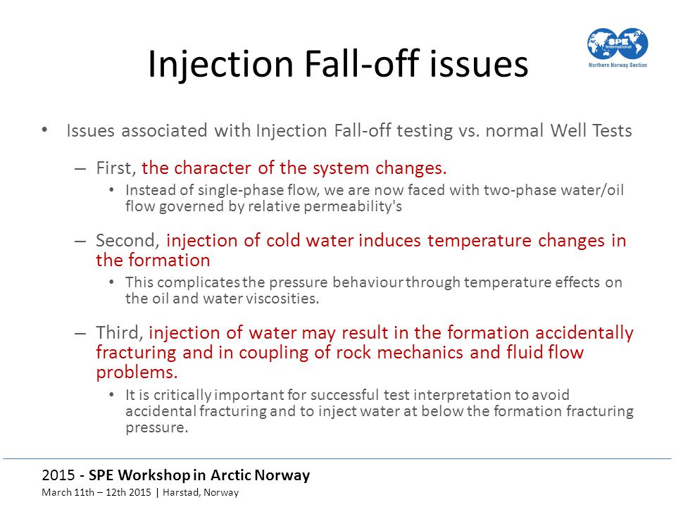 Injection Fall-off issues