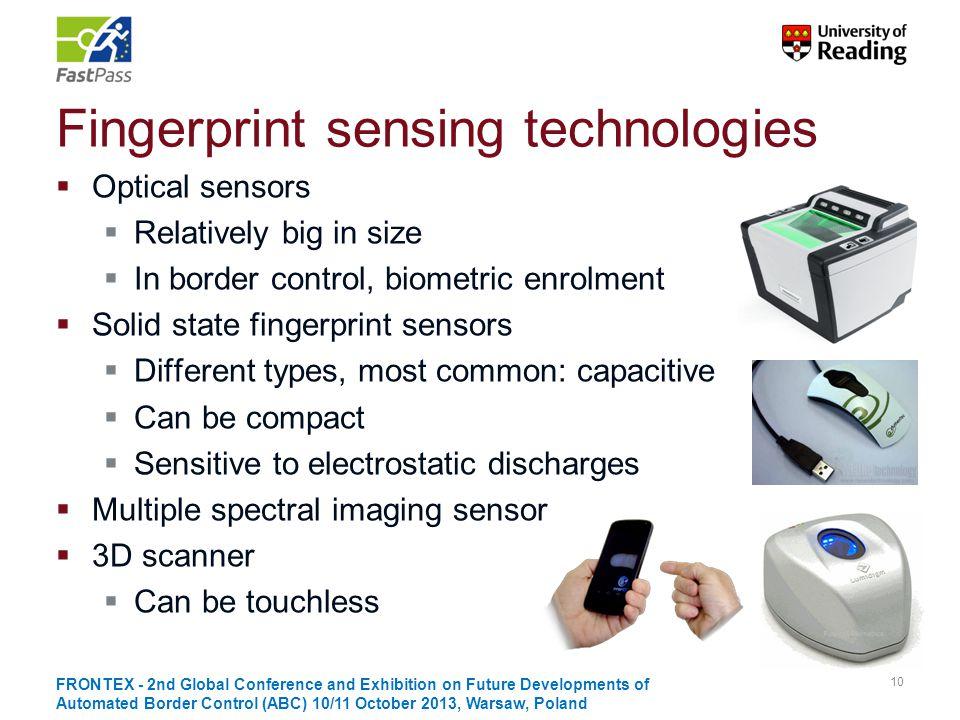 Fingerprint sensing technologies