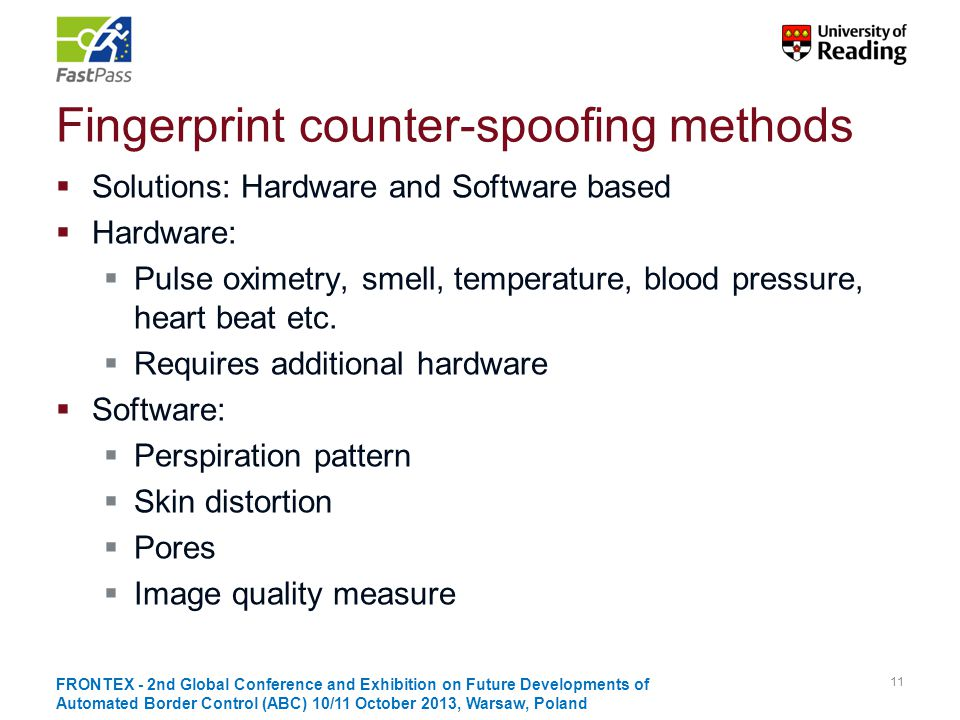 Fingerprint counter-spoofing methods