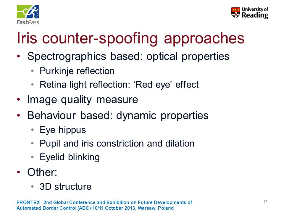 Iris counter-spoofing approaches