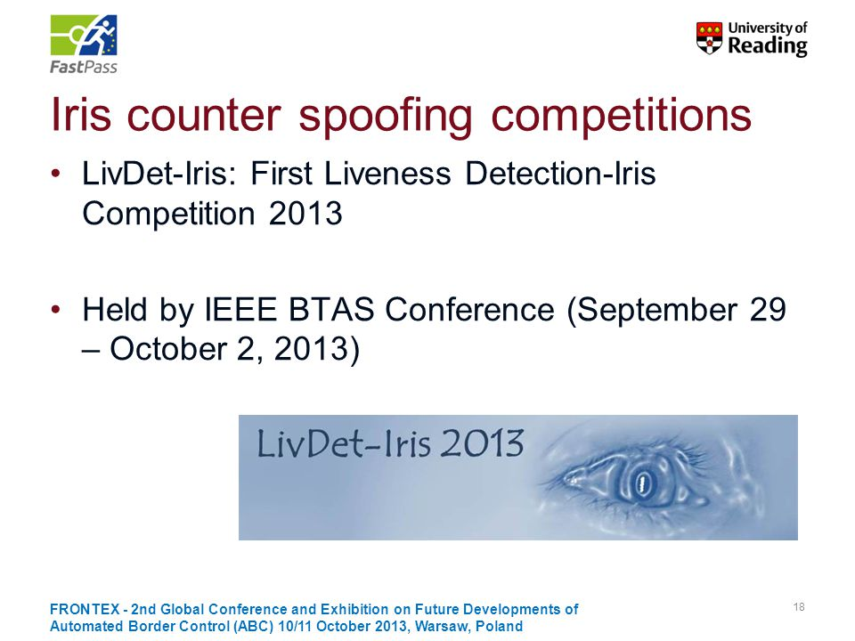 Iris counter spoofing competitions