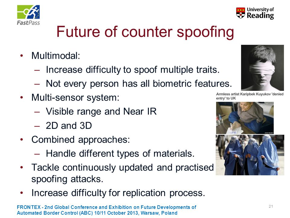 Future of counter spoofing