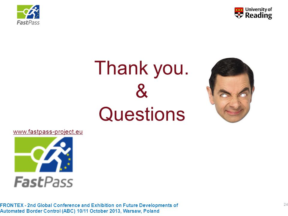 Thank you. & Questions www.fastpass-project.eu