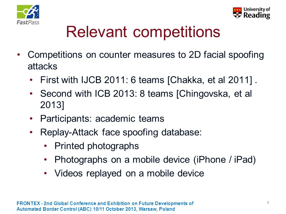 Relevant competitions