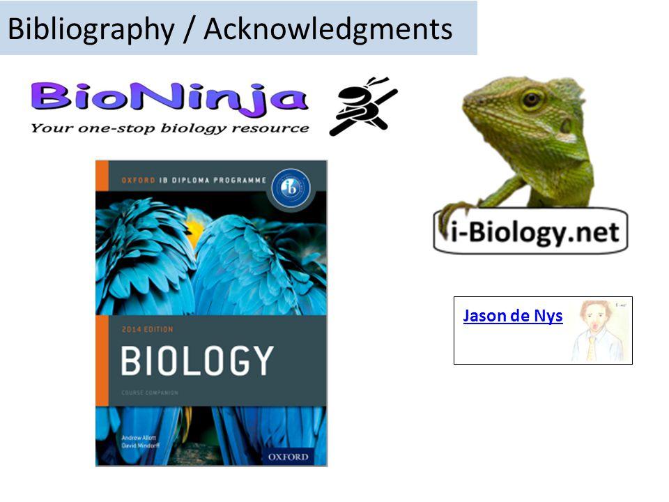 Bibliography / Acknowledgments