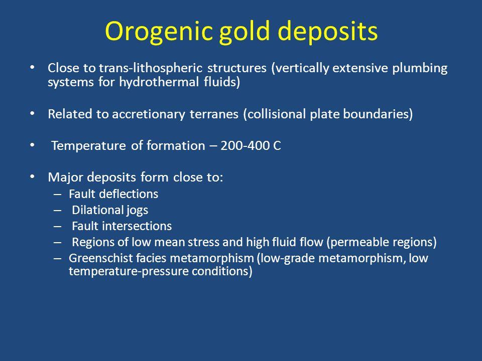 Orogenic gold deposits
