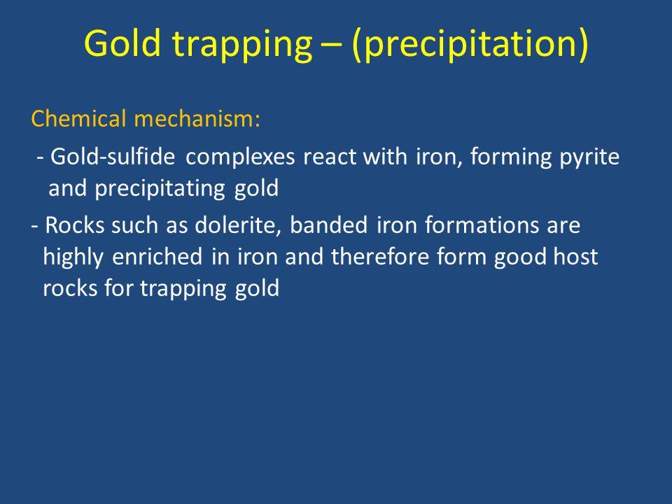 Gold trapping – (precipitation)