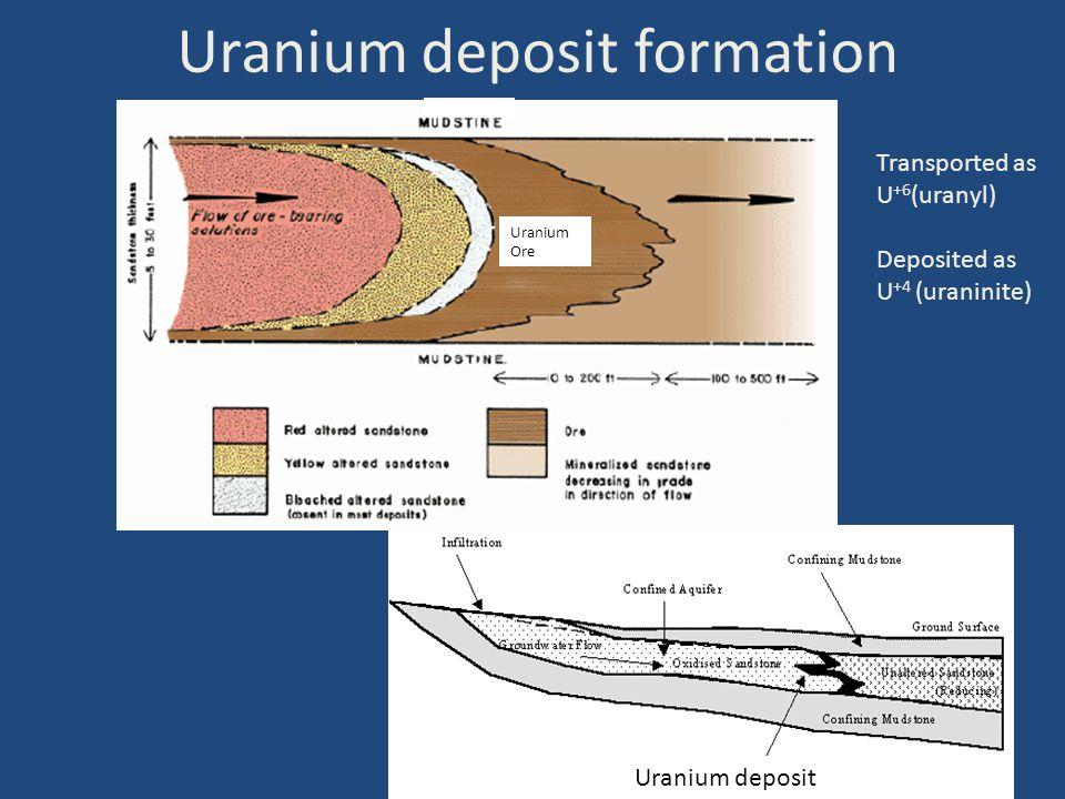 Uranium deposit formation