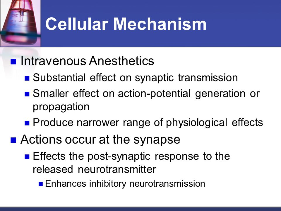 Cellular Mechanism Intravenous Anesthetics