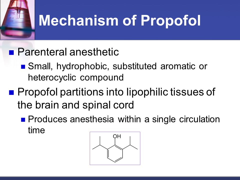 Mechanism of Propofol Parenteral anesthetic