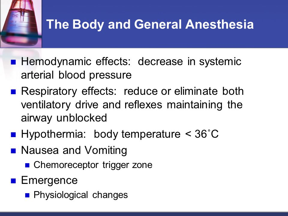 The Body and General Anesthesia