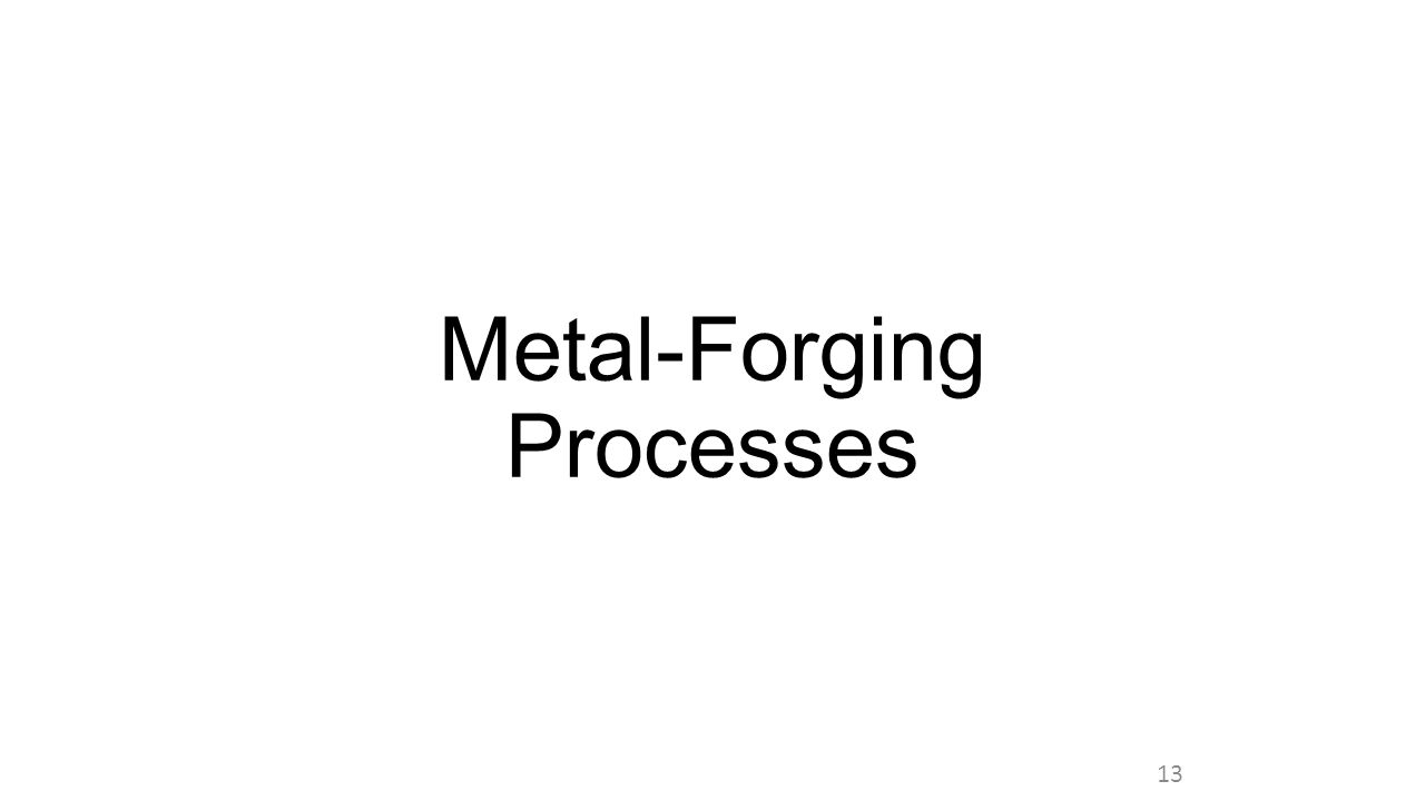 Metal-Forging Processes