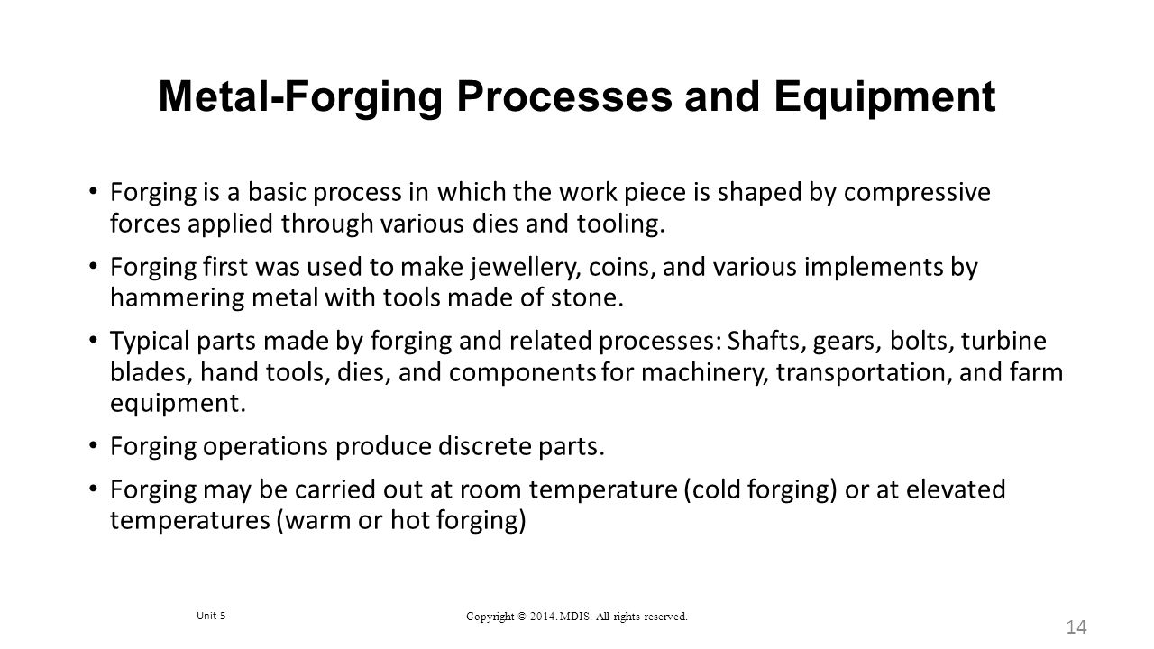 Metal-Forging Processes and Equipment