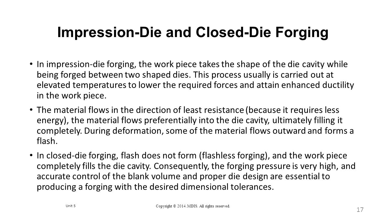 Impression-Die and Closed-Die Forging