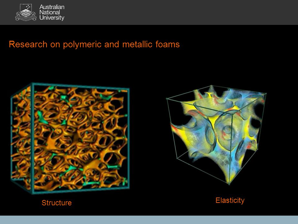 Research on polymeric and metallic foams