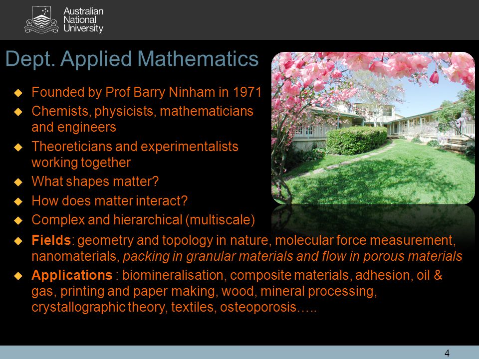 Dept. Applied Mathematics