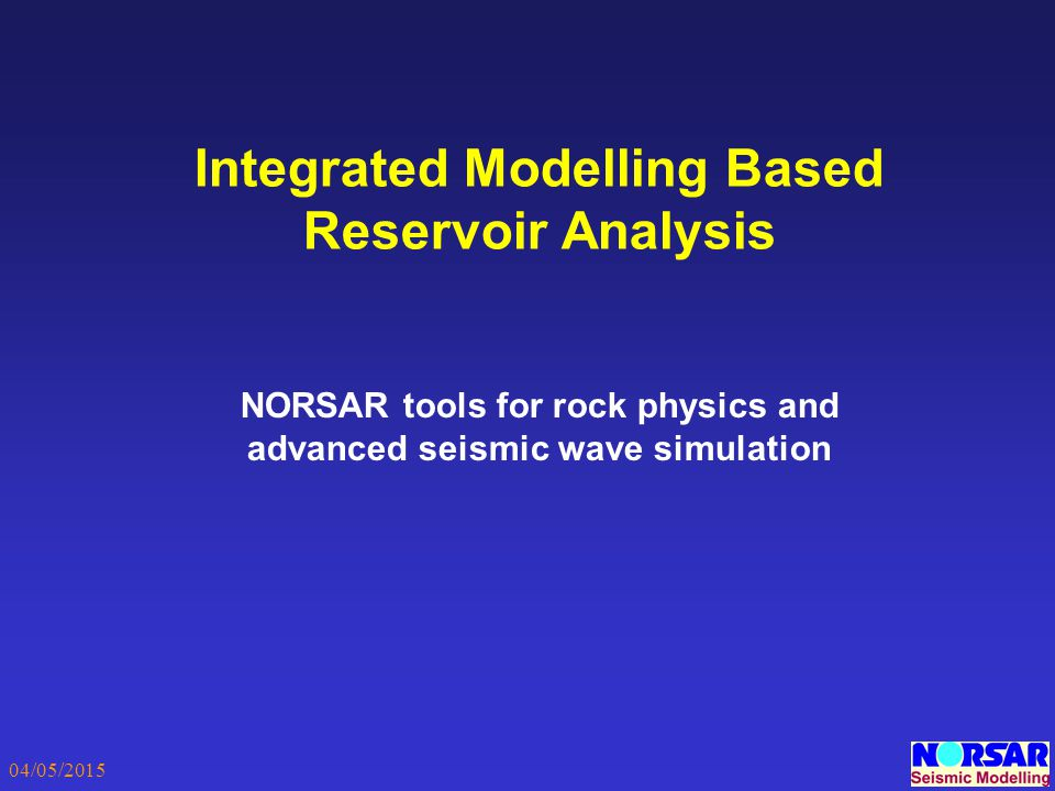Integrated Modelling Based Reservoir Analysis