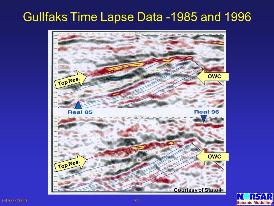 Gullfaks Time Lapse Data -1985 and 1996