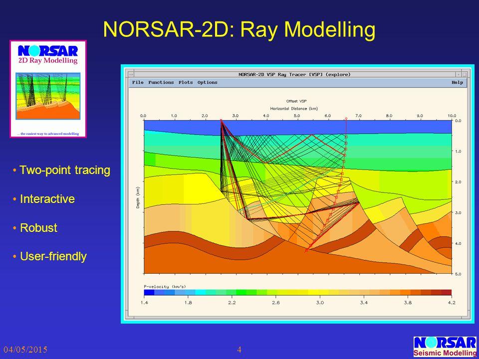 NORSAR-2D: Ray Modelling
