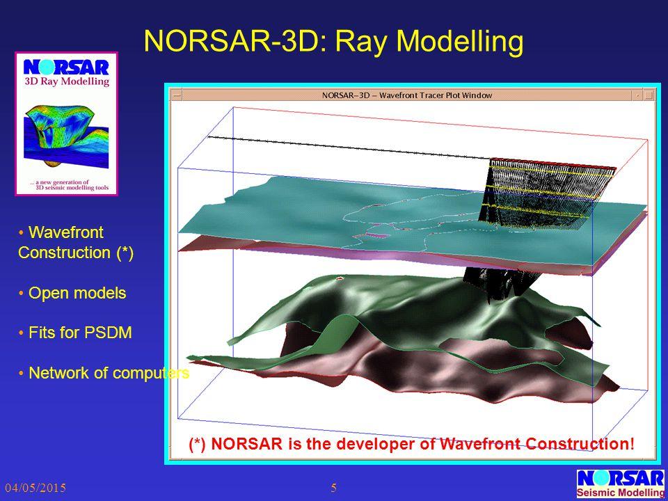 NORSAR-3D: Ray Modelling