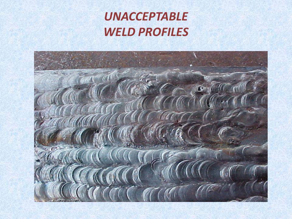 UNACCEPTABLE WELD PROFILES