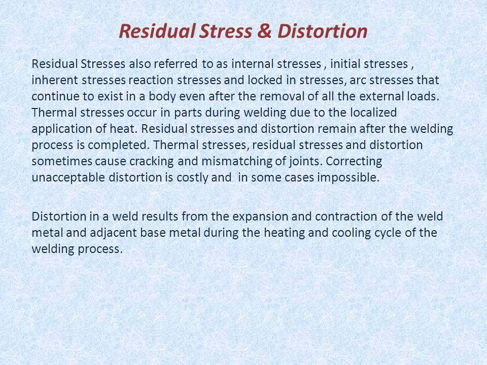 Residual Stress & Distortion