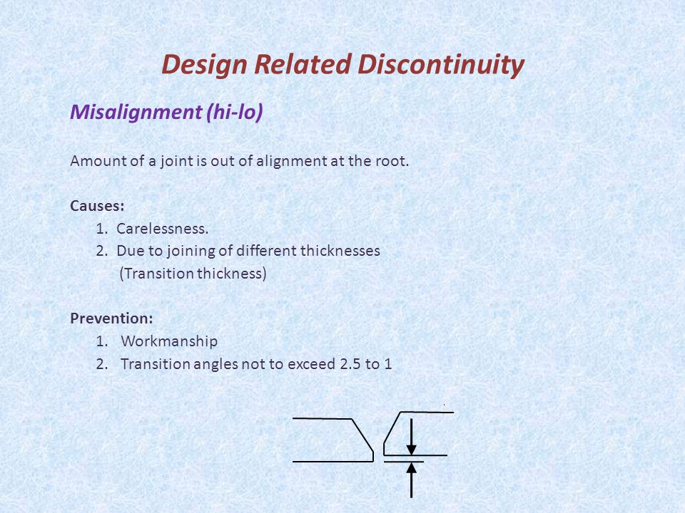 Design Related Discontinuity
