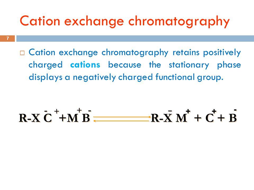 Cation exchange chromatography