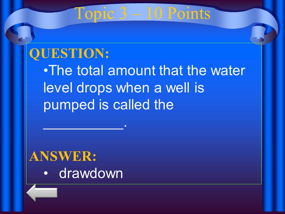 Topic 3 – 10 Points QUESTION: