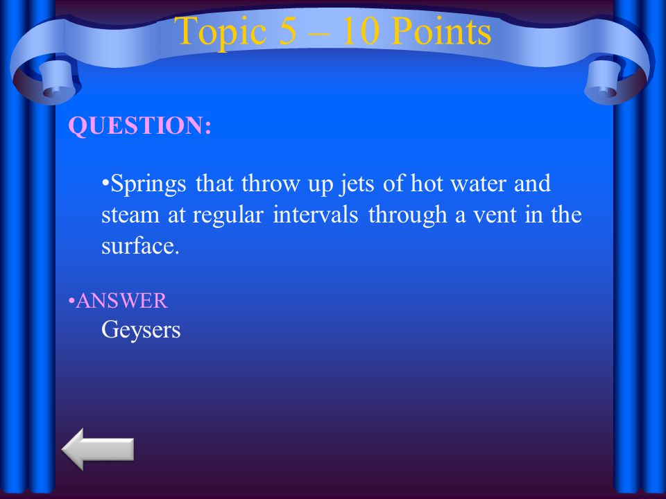 Topic 5 – 10 Points QUESTION: