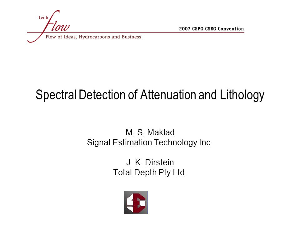 Spectral Detection of Attenuation and Lithology