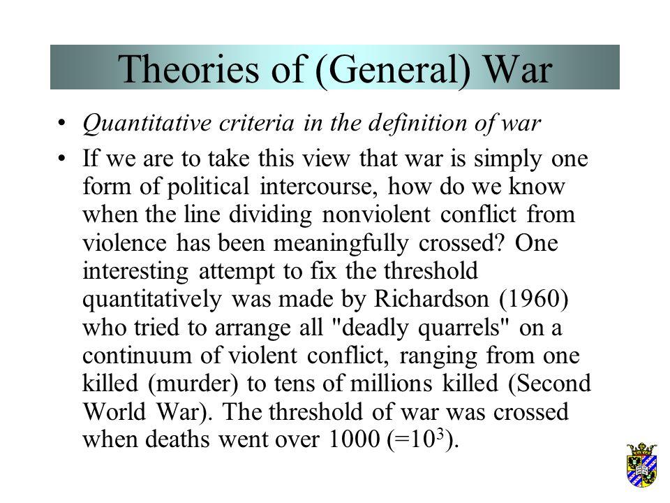 Theories of (General) War