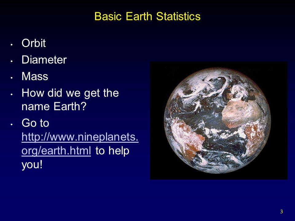 Basic Earth Statistics