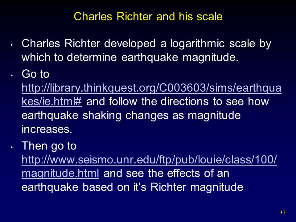Charles Richter and his scale