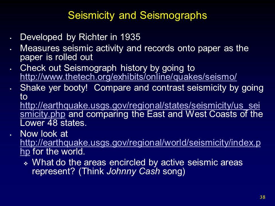 Seismicity and Seismographs