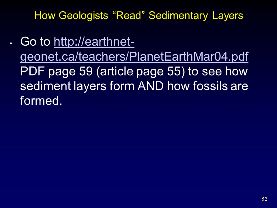 How Geologists Read Sedimentary Layers