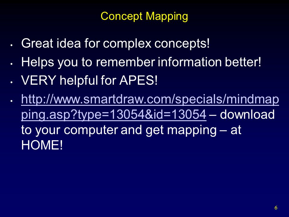 Great idea for complex concepts!
