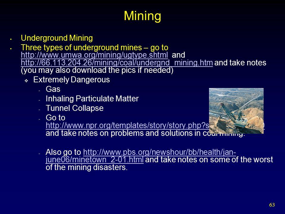 Mining Underground Mining