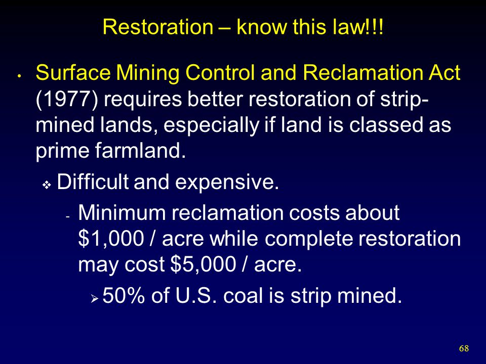 Restoration – know this law!!!