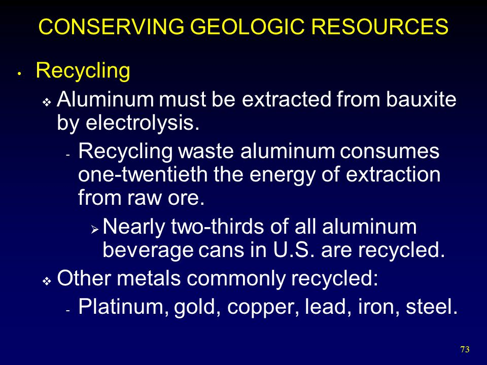 CONSERVING GEOLOGIC RESOURCES