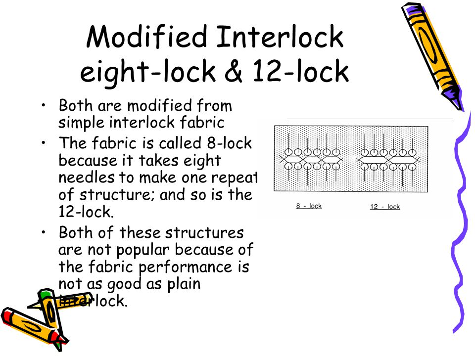 Modified Interlock eight-lock & 12-lock