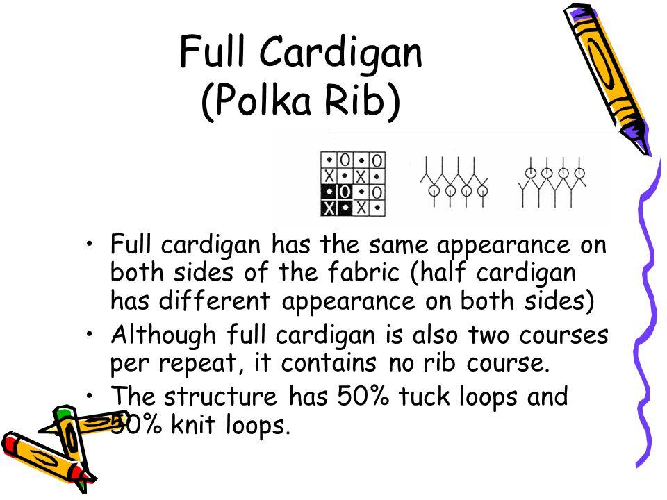 Full Cardigan (Polka Rib)
