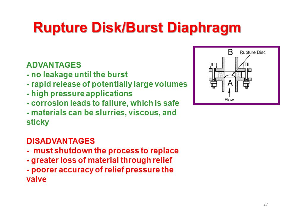 Rupture Disk/Burst Diaphragm