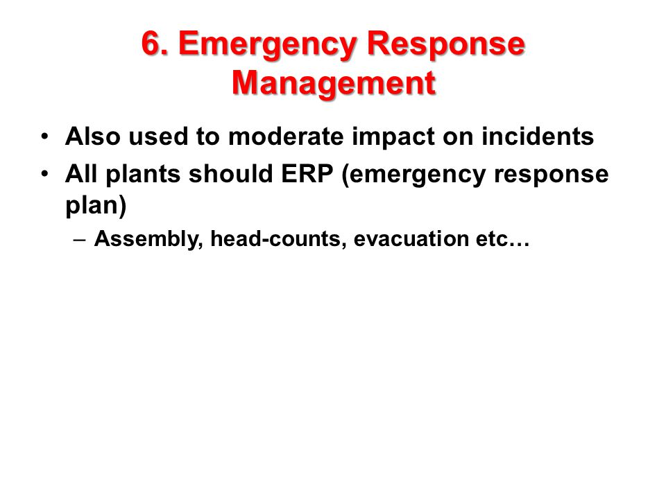 6. Emergency Response Management