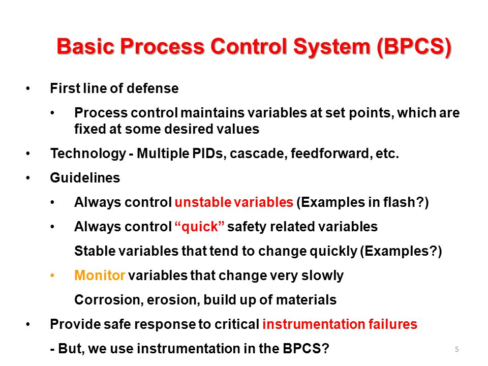 Basic Process Control System (BPCS)