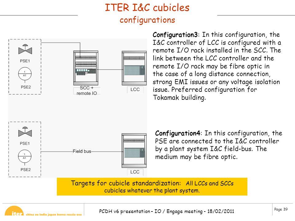 ITER I&C cubicles configurations